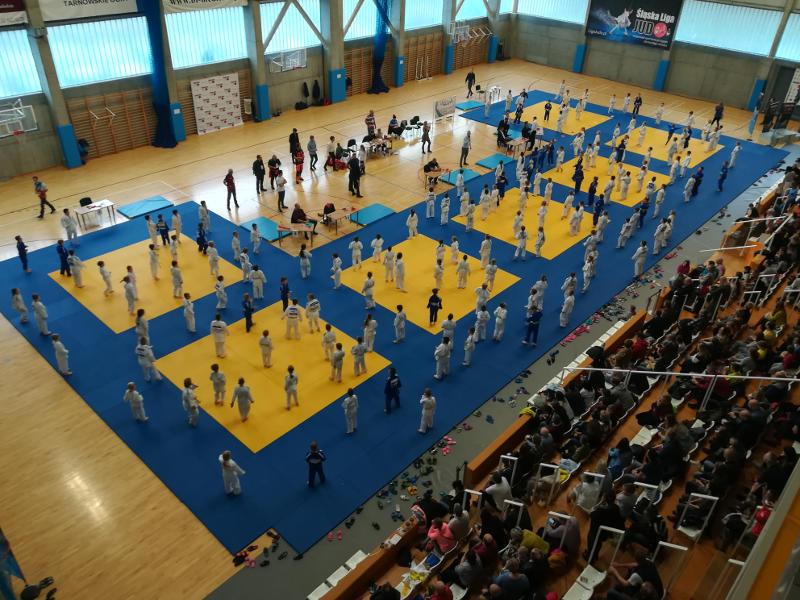 Rekordowa liczba uczestników w Śląskiej Lidze Judo w Tarnowskich Górach